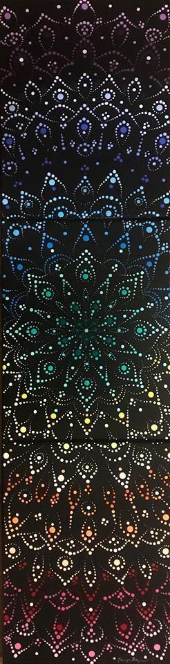 """Chakra Mandala Chakra mandala. Acrylic on canvas. 11""""x42"""""""
