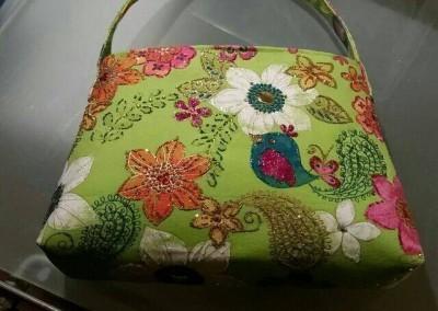 Lime Evening Bag Handmade with embellishments