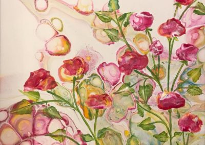 """Pink Spring 12""""x12"""" acrylic on canvas"""